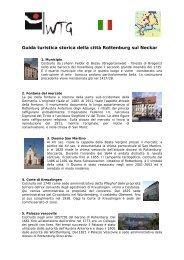 Guida turistica storica della città Rottenburg sul Neckar - WTG ...