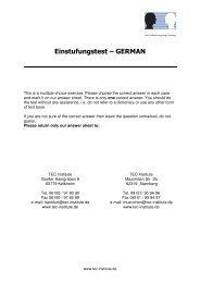 TEC - Einstufungstest Deutsch - TEC Institute