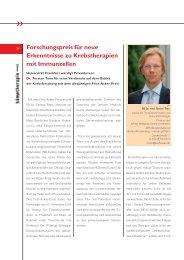 Forschungspreis für neue Erkenntnisse zu ... - Hämotherapie