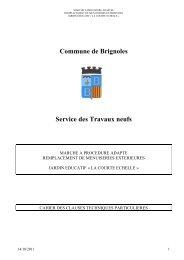 CCTP TX Menuiseries extérieures Jardin Educatif - Ville de Brignoles