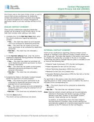 Contact Management Client Privacy Job Aid (ZB309) - Reynolds ...