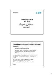 Vorstellung des Verfahrens im Seminar LRS - Universität Siegen