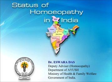 Dr. ESWARA DAS. Deputy Adviser (Homoeopathy ... - Similima