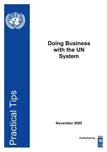 Practical Tips for Doing Business with the UN - United Nations ...