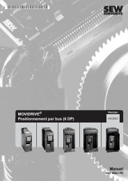 MOVIDRIVE Positionnement par bus (6 DP) Manuel - SEW-Eurodrive