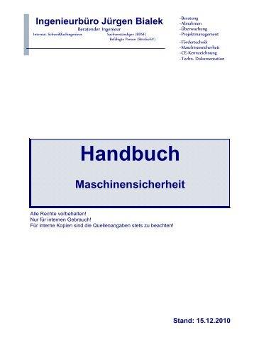 Handbuch Maschinensicherheit