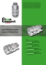 Quick-Disconnect Couplings of stainless steel