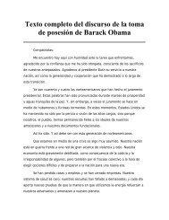 Texto completo del discurso de la toma de posesión de ... - El Mundo