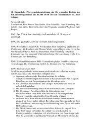 14. Ordentliche Pfarrgemeinderatssitzung der 10. synodalen ...