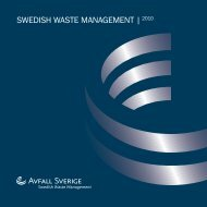 SWEDISH WASTE MANAGEMENT |2010 - Avfall Sverige