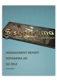 Management report - Sopharma AD