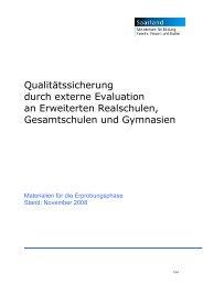 Qualitätssicherung durch externe Evaluation an Erweiterten ...