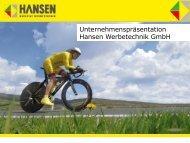 Produkte - Hansen Werbetechnik