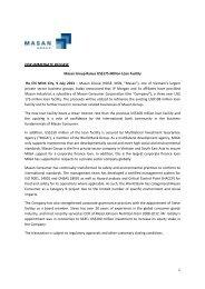 MSN Raises US$175 Million Loan Facility - Masan Group