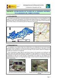 proyecto: estabilización de taludes en la garganta buitrera. tm ...