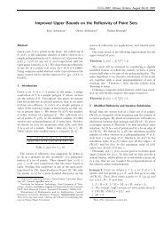 Improved Upper Bounds on the Reflexivity of Point Sets - Canadian ...