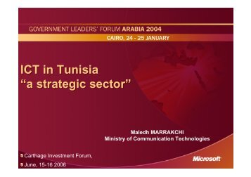 Mr. Maledh MARRAKCHI - Invest in Tunisia, The Foreign Investment ...