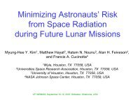 Risk from Space Radiation during Future Lunar Missions - Wrmiss.org