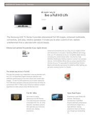 The Samsung LCD TV Series 5 provides ... - Zone Technology
