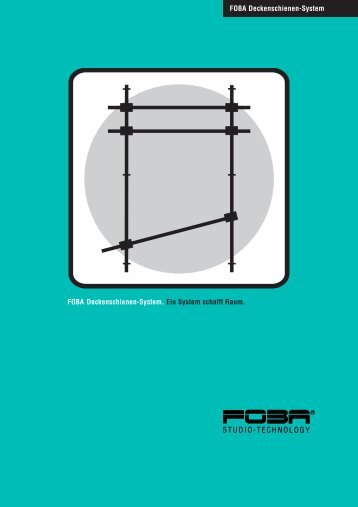 Prospekt FOBA Deckenschienensystem - Slach