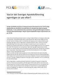 LIF och FGL kommenterar Apoteksföreningens kampanj mot ...