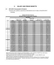 2012-2013 Certified Salary Schedule - Bartlesville Public Schools