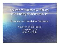 Southern California Marine Monitoring Conference IV