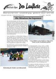 Die Skisaison hat begonnen - Skiclub Olpe