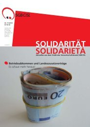 Solidarität für… - SGB - CISL