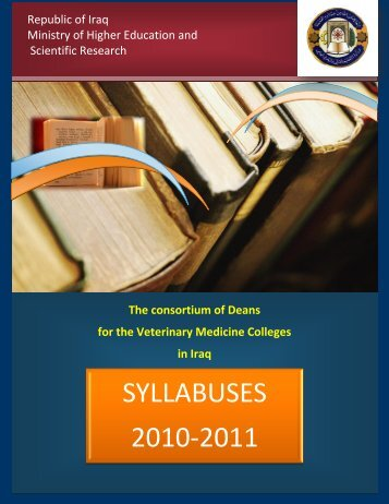 veterinary medicine colleges syllabuses, 2010-2011