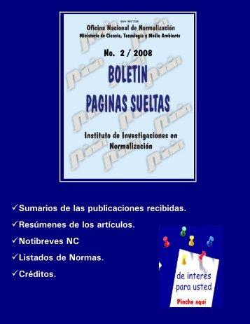 No. 2 / 2008 - Boletín Páginas Sueltas