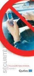 Cellulaire en main : interdit! - Société de l'assurance automobile du ...