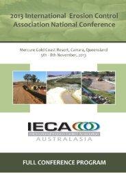 2013 IECA National Conference Program - GEMS Event Management