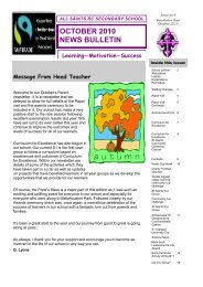 OCTOBER 2010 NEWS BULLETIN - All Saints Secondary School
