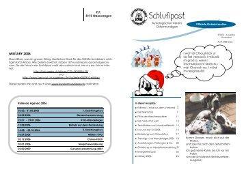 Schlufi-Post 3/2006 - Kynologischer Verein Ostermundigen