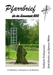 Sommerpfarrbrief 2013 - Katholische Kirche Metelen