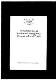 11enschenrechtein Bosnien und Herzegowina: Wissenschaft und ...