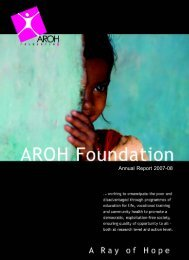 health related activities - Aroh Foundation