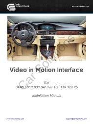 Download installation manual for TV in Motion ... - GSM Server.com