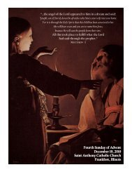 Fourth Sunday of Advent Fourth Sunday of Advent December 19 ...