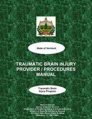 traumatic brain injury provider / procedures manual - Division of ...