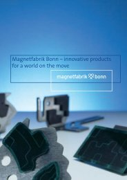 Magnetfabrik Bonn – innovative products for a world on the move