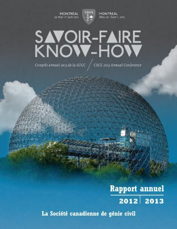 Rapport annuel - CSCE • Canadian Society for Civil Engineering