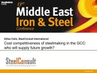 """2009: """"The MENA steel industry: who will supply future growth"""""""
