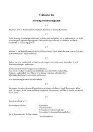Vedtægter for - Herning Orienteringsklub