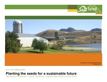 Planting the seeds for a sustainable future - City of Kamloops