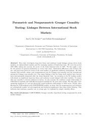 Parametric and Nonparametric Granger Causality Testing: Linkages ...