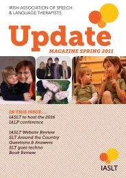 MAGAZINE SprING 2011 - Irish Association of Speech & Language ...