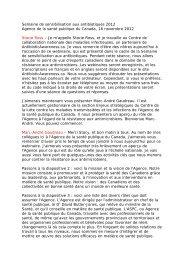Semaine de sensibilisation aux antibiotiques 2012 Agence de la ...