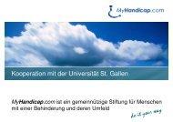 Präsentation des Stifters Joachim Schoss - MyHandicap